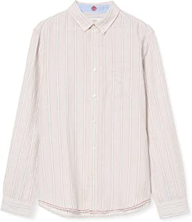 Springfield Linen Stripe-C/51, Camisa casual Hombre