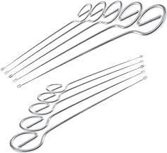 Menz Schaschlikspieß, Grillspieß, BBQ Barbecue, 210 mm, 10 Stück, Rostfreier Edelstahl, Qualitätsprodukt Made in Germany