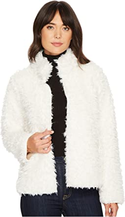 Michael Stars - Teddy Fur Long Sleeve Reversible Short Coat