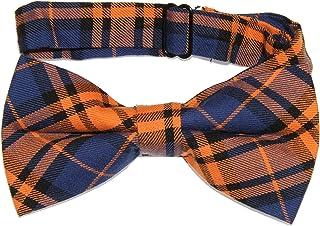 MENDENG Mens Elegant Grid plaid Bowtie Adjustable Pretied Formal Bow Tie for Men