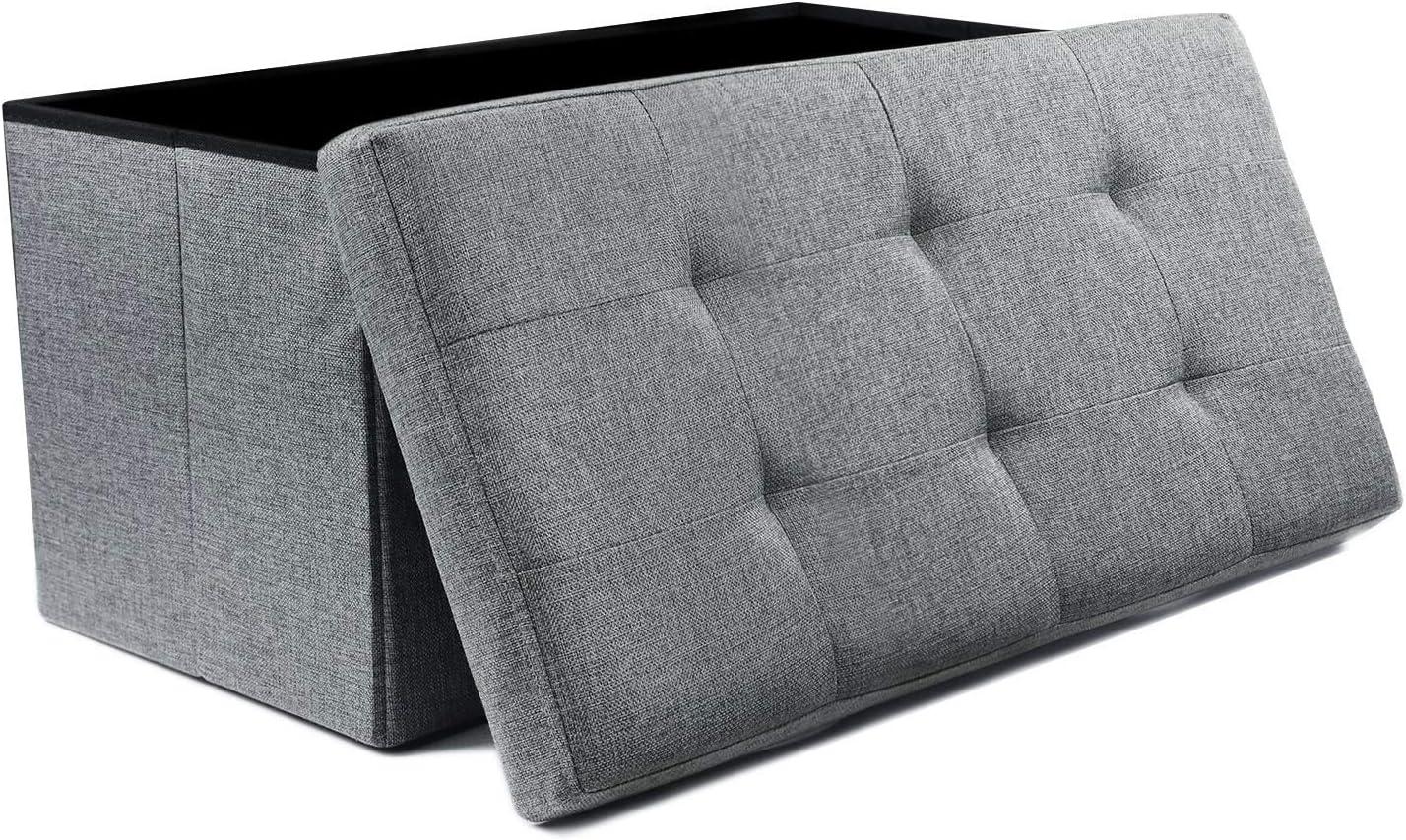 NISUNS Sales results No. 1 OT03 30 Inch Linen Storage Foldable Fabric Bench Ottoman Latest item