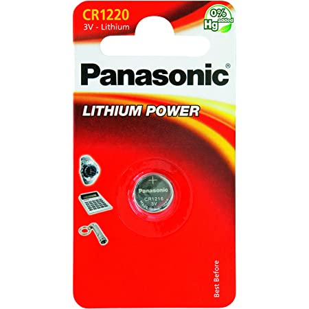 Panasonic Knopfzelle Lithium Cr1220 Elektronik
