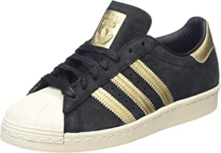 adidas Womens Originals Superstar 80S Trainers in Core Black/Raw Pink