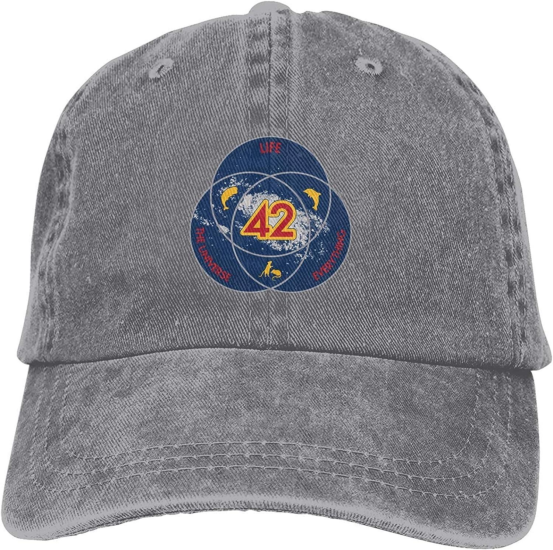 398 42 The Answer to Life - Gorra de béisbol ajustable, unisex, diseño de camionero, color negro