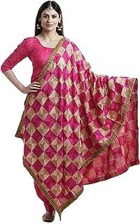 Indian women antique shawl dupatta chuni phulkari dupatta antique wrap odni sarong