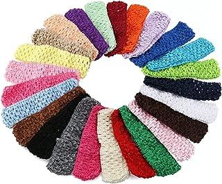 12Pcs Toddler Baby Kid Girl 12 Color 1.5Inch Crochet Headbands Hair Bands Worthy