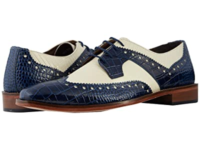 Stacy Adams Gusto Wingtip Oxford (Dark Blue/Ivory) Men