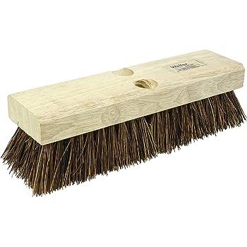 "Weiler 44026 10"" Block Size, 6 X 18 No. Of Rows, Palmyra Fill, Wood Block, Deck Scrub Brush"