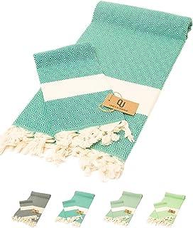 One's & Unique - Special Edition 100% Cotton 2 Pcs. 100x180 cm Turkish Beach & Bath Towel Set, Body & Hair Diamond Peshtem...