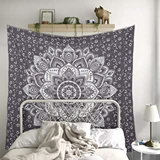 Madhu International Mandala Tapestry Psychedelic Floral Medallion Hippie Queen Tapestries..