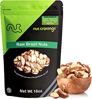 Raw Brazil Nuts (1 Pound) Compare To Organic Raw Brazil Nuts – Whole, Large, Unsalted, No Shell Raw Brazilian Nuts – 16 Ounce