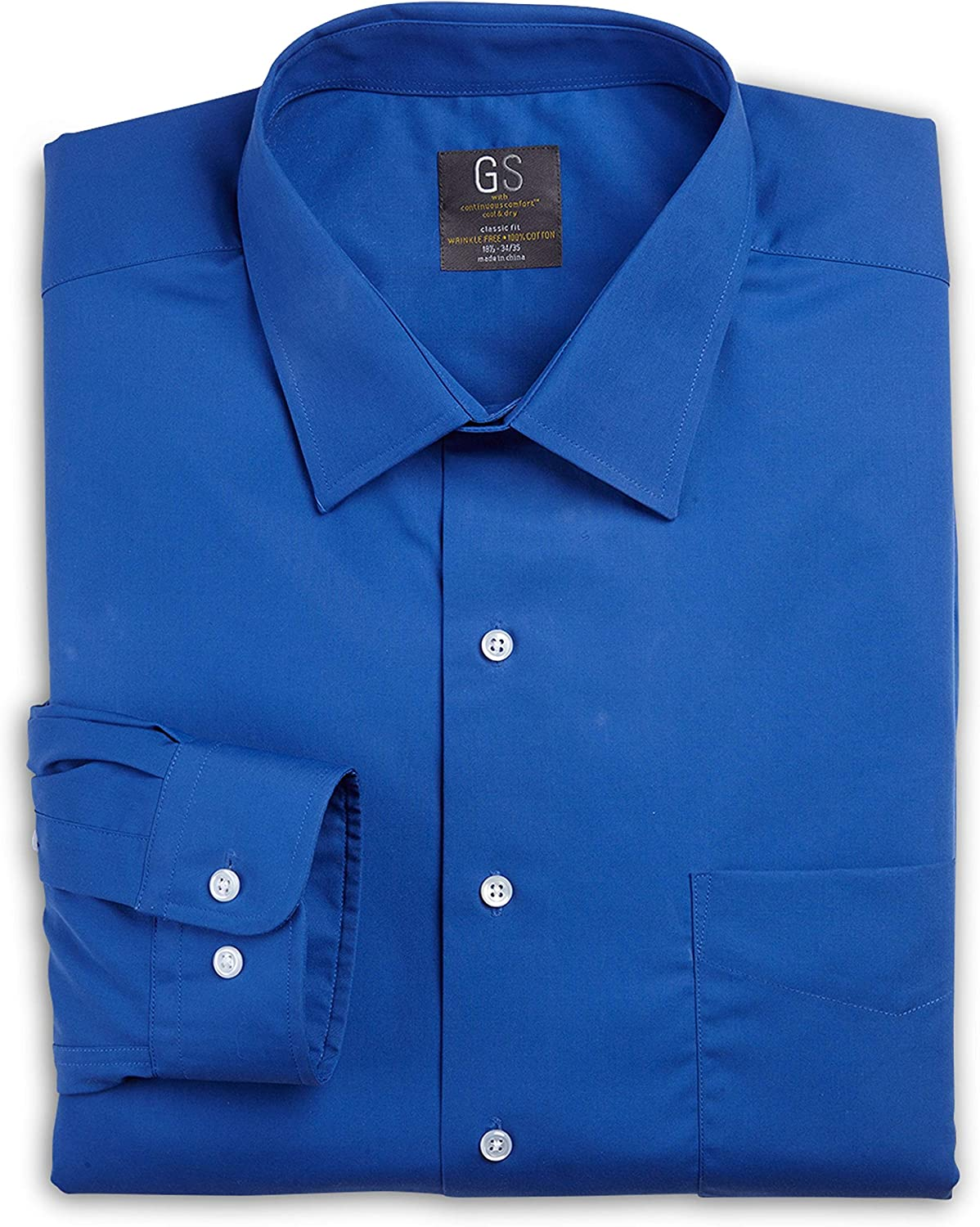 Gold Series by DXL Big and Tall Broadcloth Dress Shirts