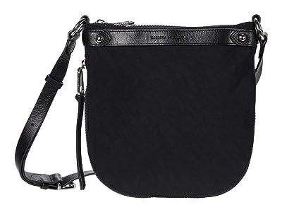 Rebecca Minkoff Mab Nylon Swing Crossbody (Black) Handbags
