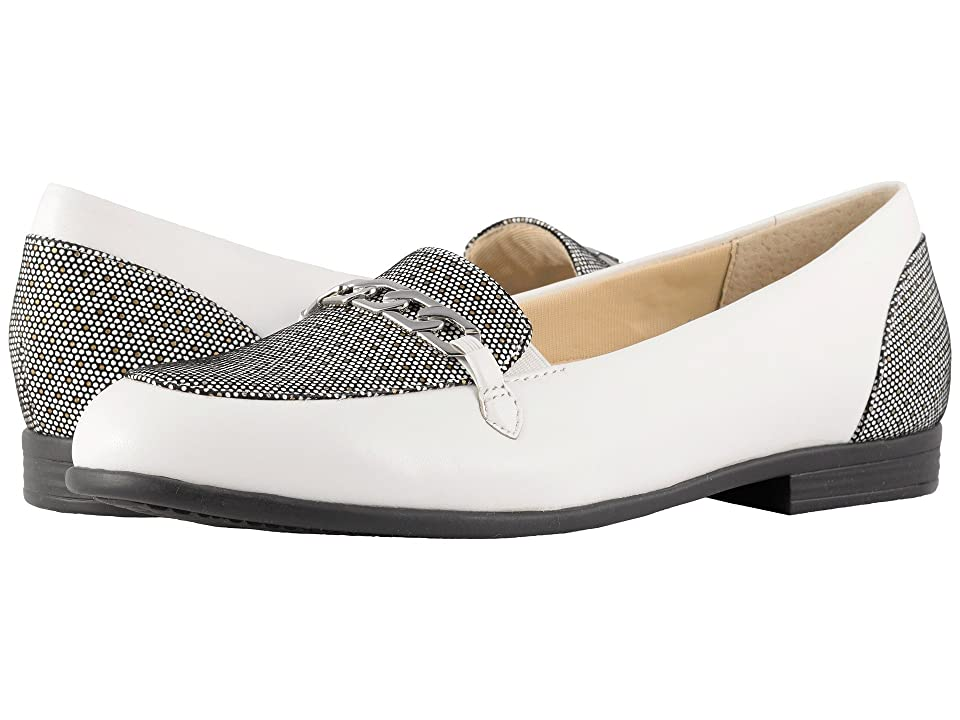 Trotters Anastasia (White Soft Leather/Foil Dots) Women