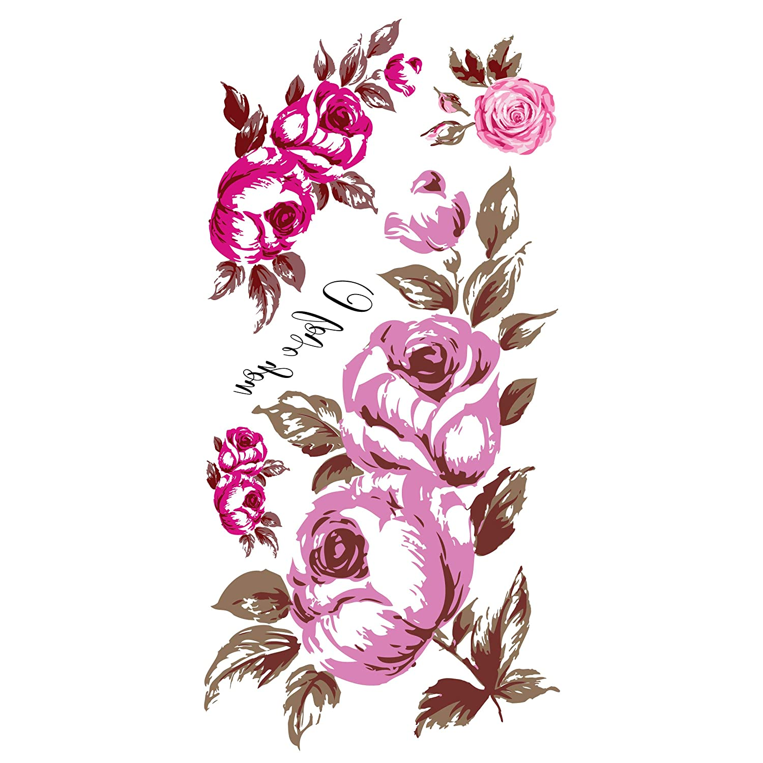 Supperb Discount is also underway Temporary Tattoos Rosebud - It is very popular
