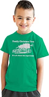Youth Family Christmas Tree T Shirt Funny Tee for Kids