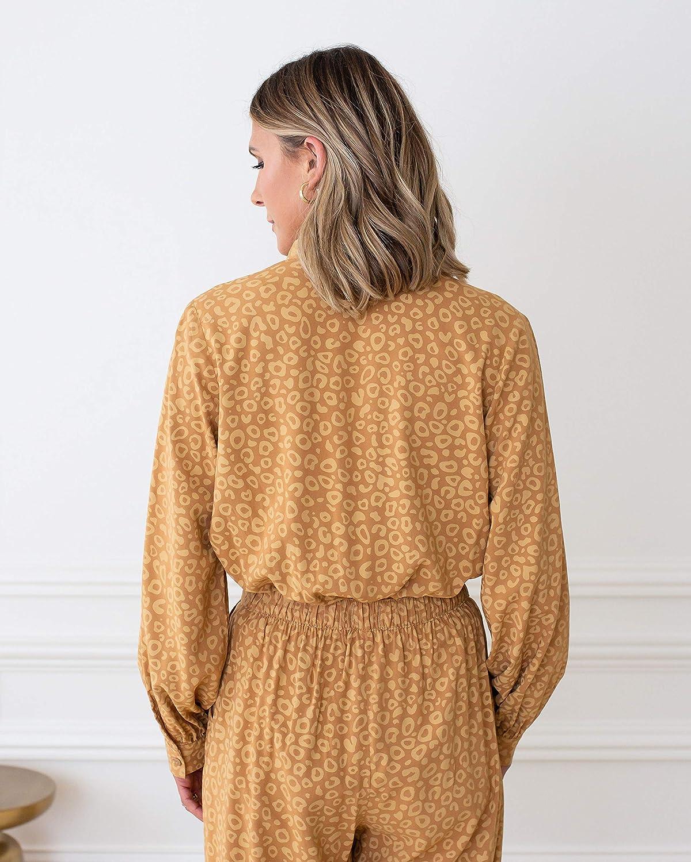 The Drop Women's Tan/Biscuit Animal Print Pleated-Front Bodysuit by @cellajaneblog