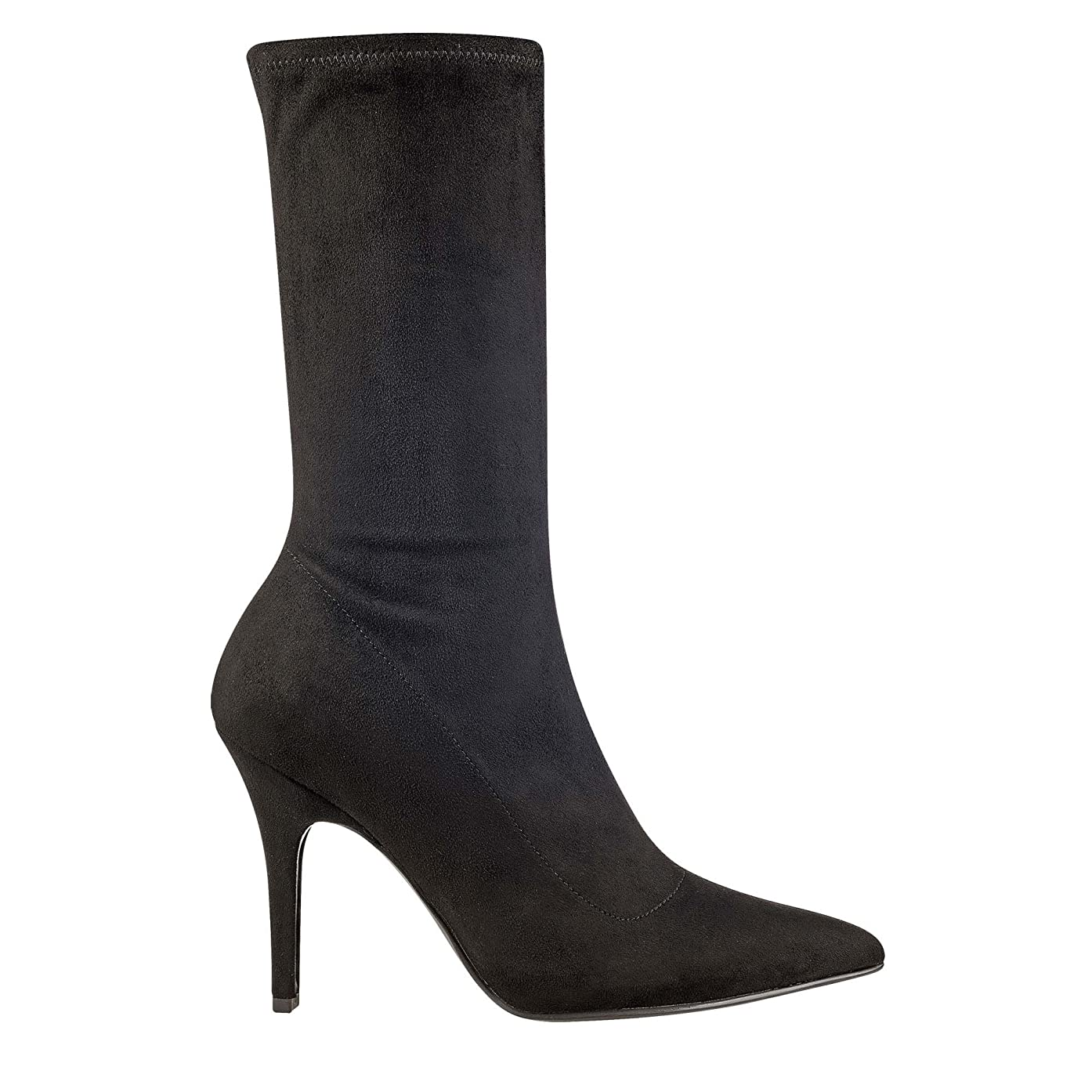 立派なぐるぐる精神医学[Marc Fisher] Womens Iunita Suede Pointed Toe Mid-Calf Fashion Boots [並行輸入品]