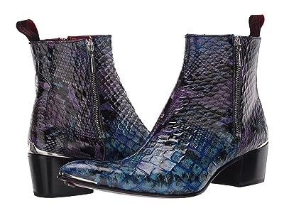 Jeffery-West Double Metal Zip Boot Sylvian (Blue) Men