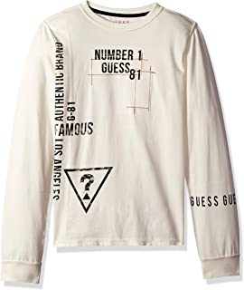 Guess Boys' Big Long Sleeve Number 1 Graphic T-Shirt