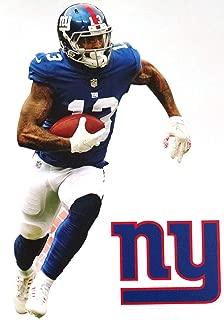 Odell Beckham Jr. Mini FATHEAD + New York Giants Logo Official NFL Vinyl Wall Graphics 7
