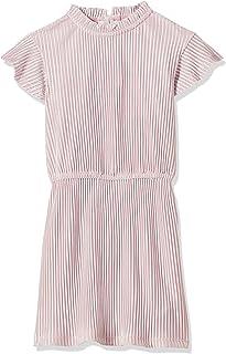 Tommy Hilfiger Girl's Velvet Plisse Dresses, Purple, 80 EU