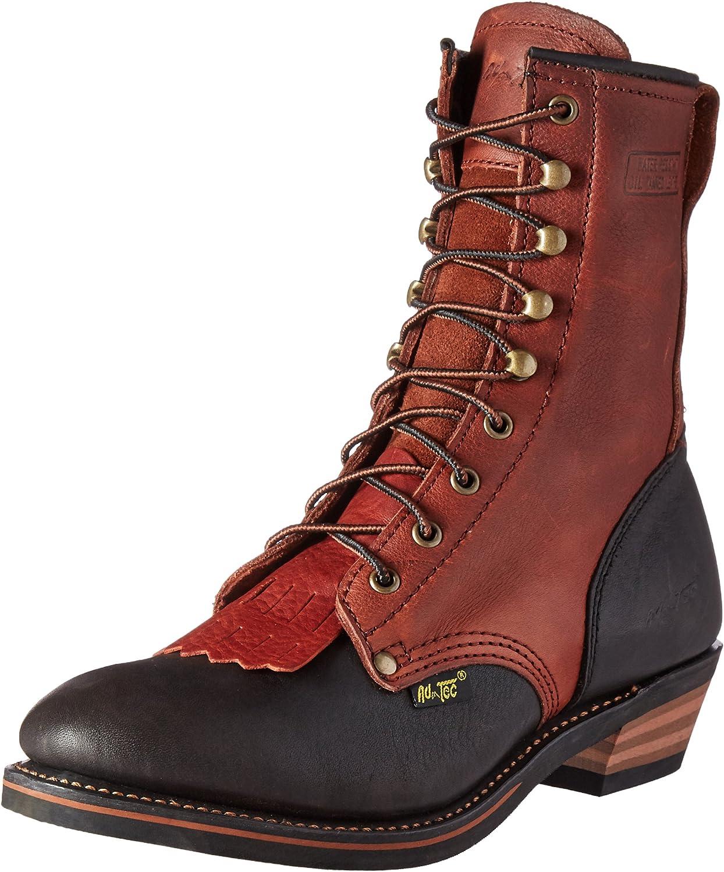 AdTec Men's 1179 9  Packer Chestnut Black Work Boot