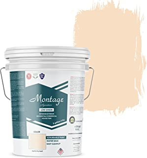Montage Signature Interior/Exterior Eco-Friendly Paint, Navajo White - Low Sheen, 5 Gallon