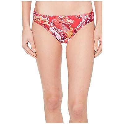 LAUREN Ralph Lauren Exotic Paisley Printed Hipster Bottom (Coral) Women