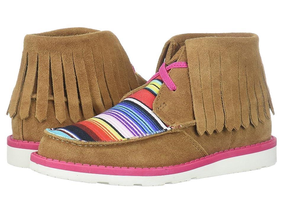 Ariat Kids Cruiser Fringe (Toddler/Little Kid/Big Kid) (Dark Peanut/Pink Serape) Cowboy Boots