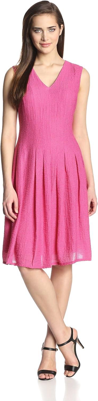 Anne Klein Women's Cap-Sleeve Pique Dress