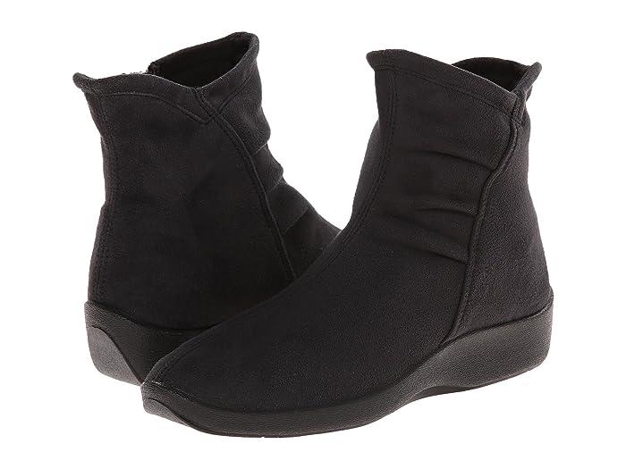 Arcopedico  L19 (Black Faux Suede) Womens Zip Boots