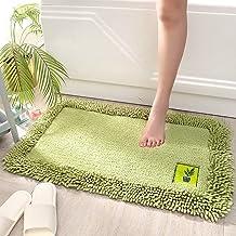 Thicken Bathroom Non-Slip Mat, Door Mat, Super Absorbent Rug,Green,50x80cm