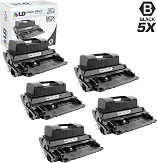 LD Compatible Toner Cartridge Replacement for HP 90X CE390X High Yield (Black, 5-Pack)