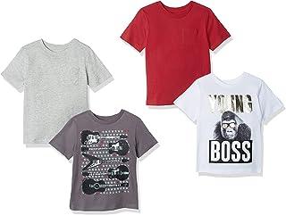 Spotted Zebra T-Shirt a Maniche Corte Bambino, Pacco da 4