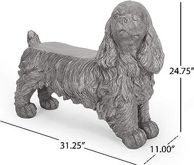Christopher Knight Home 312646 Carlysle Spaniel Dog Bench, Gray