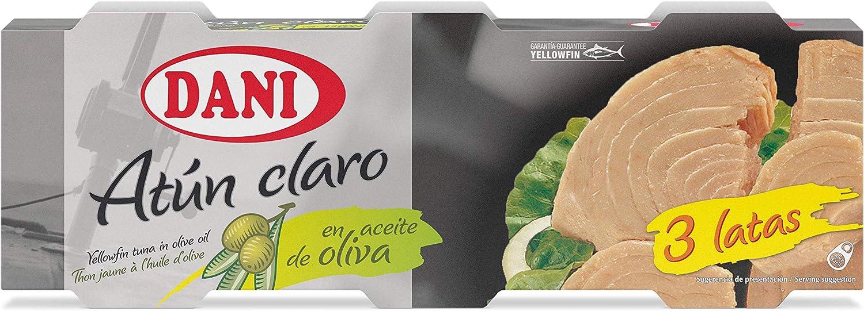 Dani - Atún claro en aceite de oliva - Pack 12 x 80 gr ...