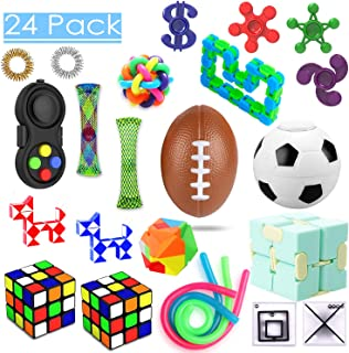 24 Pack Sensory Toys Set, Relieves Stress and Anxiety Fidget Toy for Children Adults,..