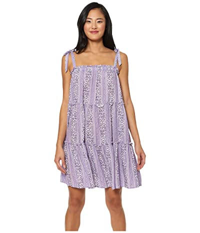 Jessica Simpson Rosie Riveter Gather Tie Shoulder Cover-Up (Lavender Multi) Women