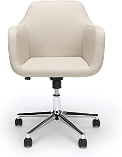 Essentials Upholstered Home Office Chair - Ergonomic Desk Chair with Arms for Conference Room or Office, Tan