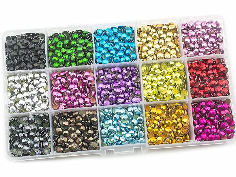 Summer-Ray SS20 5mm Assorted Color Hot Fix Rhinestuds in Storage Box