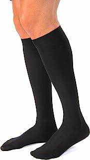 JOBST - 113119 forMen Casual 20-30 mmHg Knee High Compression Socks, Black, X-Large