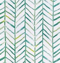 Timeet Papel Pintado Pared Moderno con Diseño de Espiga, Color Verde/Blanco, Vinilo, Autoadhesivo, Decorativo, Papel Adhes...