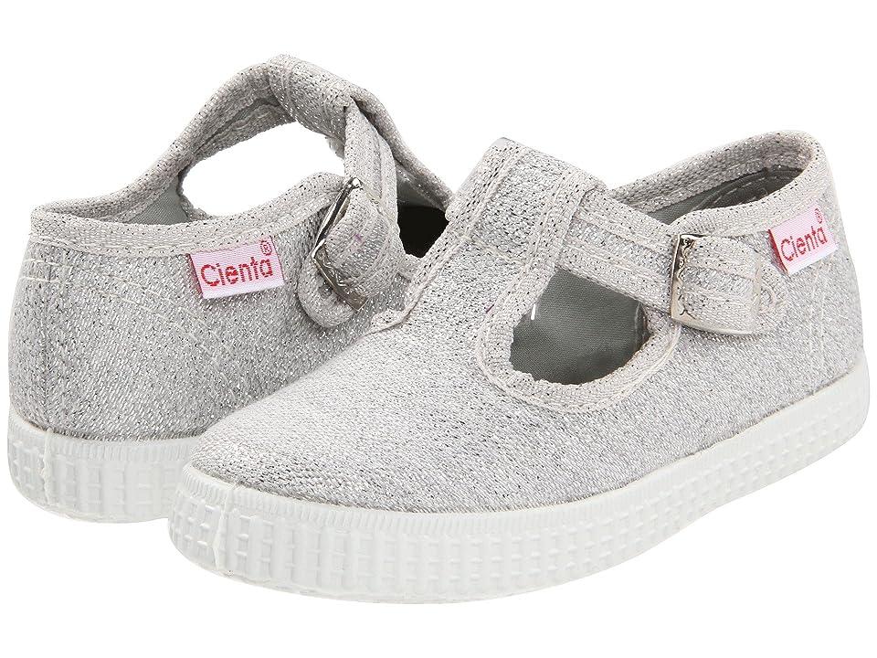 Cienta Kids Shoes 51000 (Infant/Toddler/Little Kid/Big Kid) (Silver) Girl