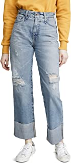 AG Adriano Goldschmied Women's Tomas HIGH Rise Baggy FIT Straight Leg Jean, 24 Years Curated, 32