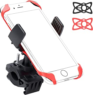Ailun Bike Motorcycle Cell Phone Mount Holder Handlebar Rack Grip Universal for iPhone X 8 8 Plus 7 7 Plus 6 6S Plus Galaxy S9 Plus S8 S7 S6 Note 10 and Other Smartphones iPods and MP3 Player Black