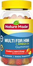 Nature Made Men's Multivitamin + Omega-3 Gummies, 80 Count for Daily Nutritional Support† (Packaging May Vary)