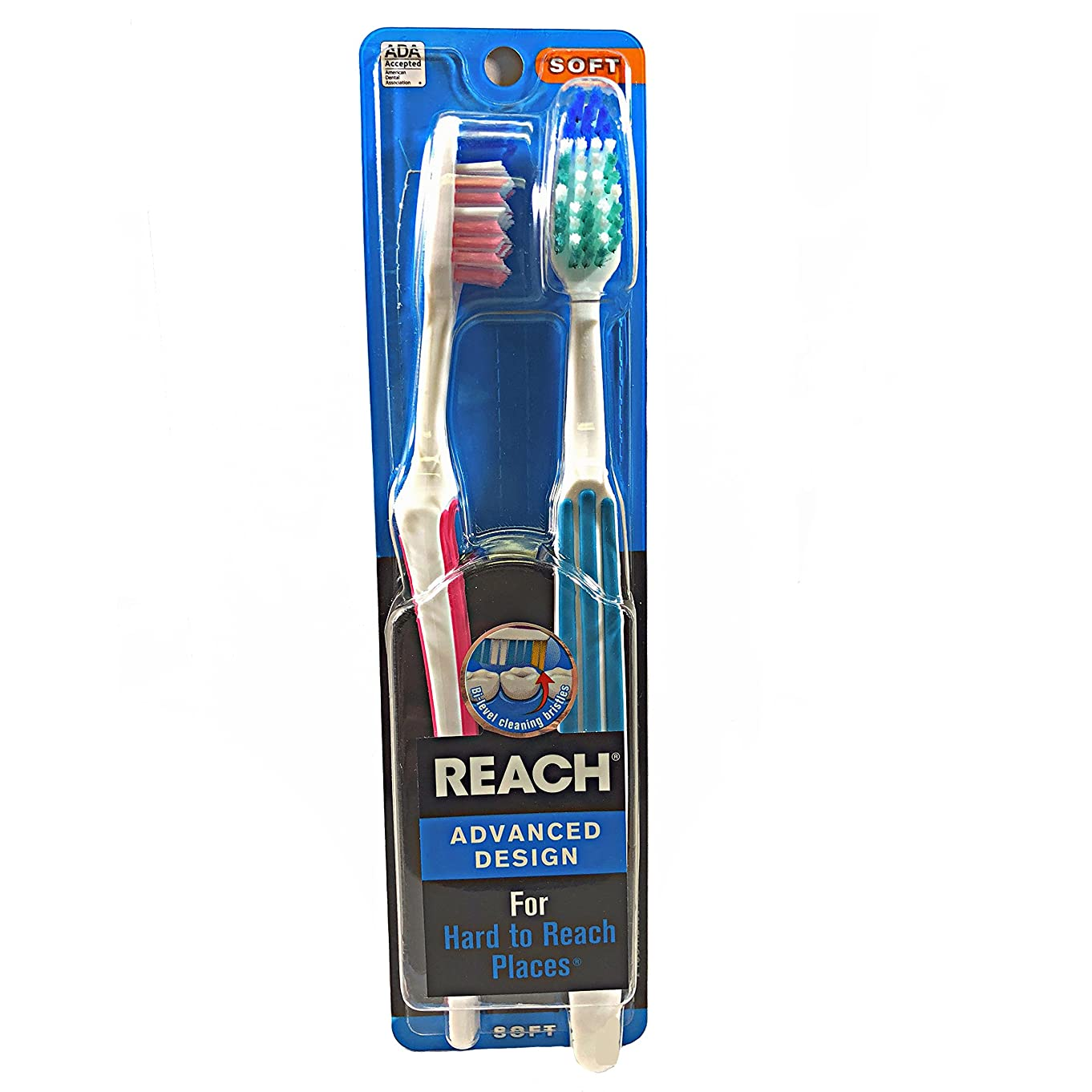 悪夢ほのめかす主人Reach 高度なデザイン歯ブラシソフト完全な頭部バリューパック2 Eaは