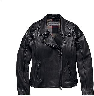 Harley-Davidson Women's Alameda Leather Biker Jacket, Black