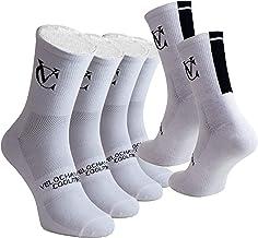 VeloChampion Calze da Ciclismo Speed Line Coolmax (Confezione da 3) - Nero o Bianco - Cycling Socks